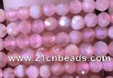 CTG716 15.5 inches 3mm faceted round tiny rhodochrosite beads