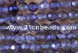 CTG753 15.5 inches 2mm faceted round tiny iolite gemstone beads