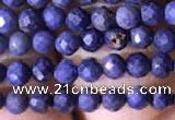 CTG788 15.5 inches 2mm faceted round tiny sapphire gemstone beads