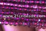 CTG804 15.5 inches 2mm faceted round tiny purple garnet beads
