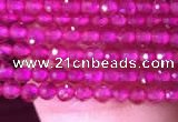 CTG807 15.5 inches 2mm faceted round tiny red corundum beads