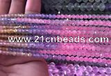 CTG838 15.5 inches 3mm faceted round tiny morganite beads