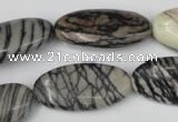 CTJ223 15.5 inches 15*30mm oval black water jasper beads wholesale