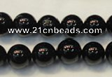 CTO104 15.5 inches 12mm round natural black tourmaline beads