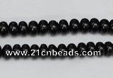 CTO120 15.5 inches 8*12mm rondelle black tourmaline beads