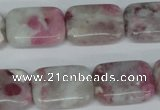 CTO212 15.5 inches 15*20mm rectangle pink tourmaline gemstone beads