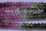 CTO303 15.5 inches 2.5*4mm faceted rondelle tourmaline beads