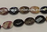 CTO35 15.5 inches 9*12mm faceted oval natural tourmaline beads