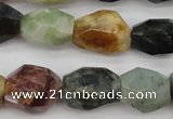 CTO384 15.5 inches 12*16mm – 16*25mm faceted nuggets tourmaline beads