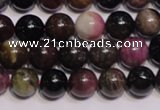CTO405 15.5 inches 8mm round natural tourmaline gemstone beads