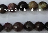 CTO464 15.5 inches 9mm faceted round natural tourmaline gemstone beads