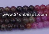 CTO622 15.5 inches 6mm round tourmaline gemstone beads wholesale