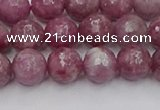 CTO658 15.5 inches 8mm faceted round Chinese tourmaline beads