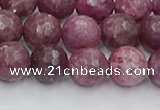 CTO659 15.5 inches 10mm faceted round Chinese tourmaline beads