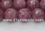 CTO661 15.5 inches 14mm faceted round Chinese tourmaline beads