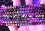 CTO666 15.5 inches 5mm round natural tourmaline gemstone beads