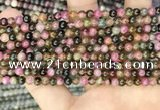 CTO670 15.5 inches 4mm round natural tourmaline beads wholesale