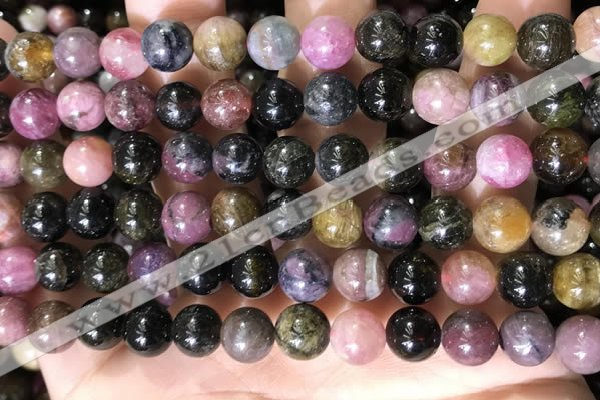 CTO688 15.5 inches 8mm round tourmaline beads wholesale