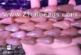 CTR307 15.5 inches 10*25mm faceted teardrop moonstone beads