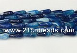 CTR405 15.5 inches 8*20mm teardrop agate beads wholesale