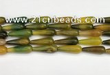 CTR416 15.5 inches 10*30mm teardrop agate beads wholesale