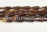 CTR417 15.5 inches 10*30mm teardrop agate beads wholesale