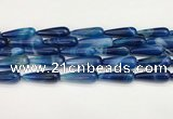 CTR427 15.5 inches 10*30mm teardrop agate beads wholesale