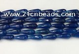 CTR442 15.5 inches 8*20mm faceted teardrop agate beads wholesale