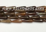 CTR452 15.5 inches 10*30mm faceted teardrop agate beads wholesale