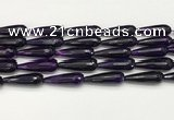 CTR454 15.5 inches 10*30mm faceted teardrop agate beads wholesale