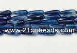 CTR458 15.5 inches 10*30mm faceted teardrop agate beads wholesale