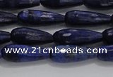 CTR76 15.5 inches 6*16mm faceted teardrop lapis lazuli beads