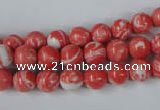 CTU1002 15.5 inches 8mm round synthetic turquoise beads wholesale