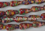 CTU1065 15.5 inches 8*16mm teardrop synthetic turquoise beads wholesale