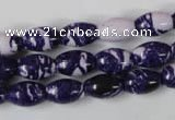 CTU1093 15.5 inches 5*8mm rice synthetic turquoise beads wholesale