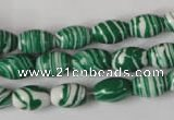CTU1138 15.5 inches 8*12mm rice synthetic turquoise beads wholesale
