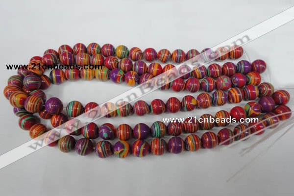 CTU1186 15.5 inches 6mm round synthetic turquoise beads wholesale