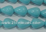 CTU1235 15.5 inches 13*18mm teardrop synthetic turquoise beads