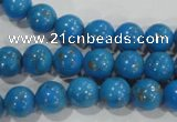 CTU1621 15.5 inches 6mm round synthetic turquoise beads