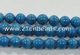 CTU1622 15.5 inches 8mm round synthetic turquoise beads