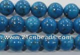 CTU1625 15.5 inches 14mm round synthetic turquoise beads