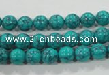 CTU1673 15.5 inches 8mm round synthetic turquoise beads