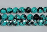 CTU1802 15.5 inches 6mm round synthetic turquoise beads