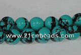CTU1804 15.5 inches 10mm round synthetic turquoise beads