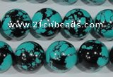 CTU1807 15.5 inches 16mm round synthetic turquoise beads