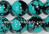 CTU1809 15.5 inches 20mm round synthetic turquoise beads