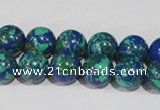 CTU1814 15.5 inches 10mm round synthetic turquoise beads