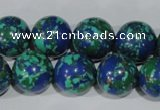 CTU1817 15.5 inches 16mm round synthetic turquoise beads