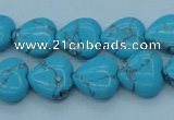 CTU199 16 inches 14*14mm heart imitation turquoise beads wholesale