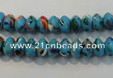 CTU2008 15.5 inches 5*8mm rondelle synthetic turquoise beads